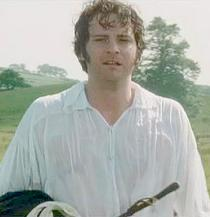 Colin Firth in a damp shirt and rumpled hair from the BBC 1995 miniseries Pride & Prejudice