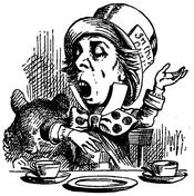 Picture of the Mad Hatter from Lewis Carroll's book Alice in Wonderland