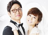 promotional poster for series featuring a wedding photo of Kim Nam Joo and Yu Jun Sang;
